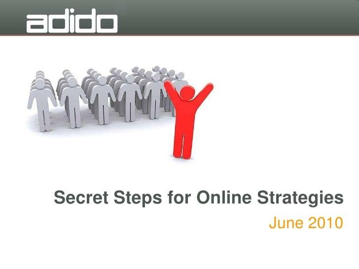Secret steps to creating online sales strategies
