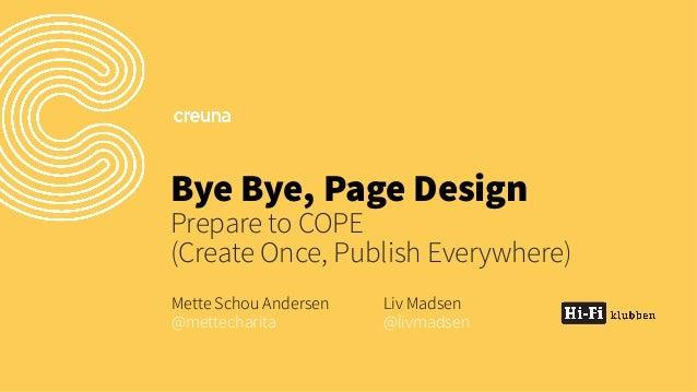 Bye bye pagedesign epi_server