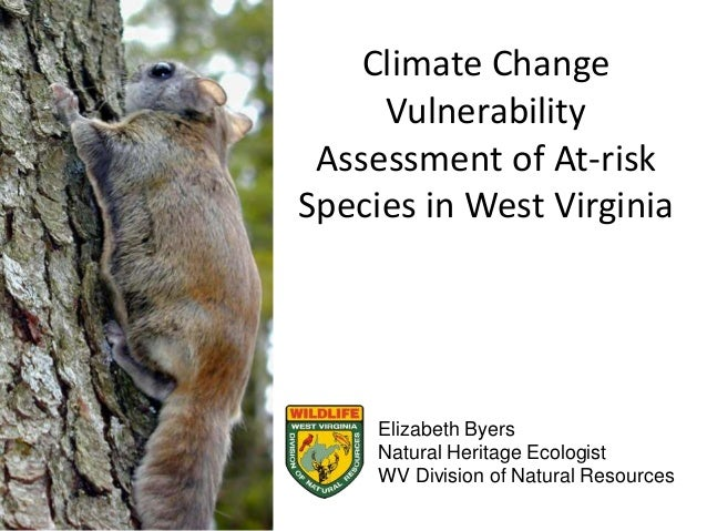 Climate Change Vulnerability Assessment of At-risk Species in West Virginia Elizabeth Byers Natural Heritage Ecologist WV ...