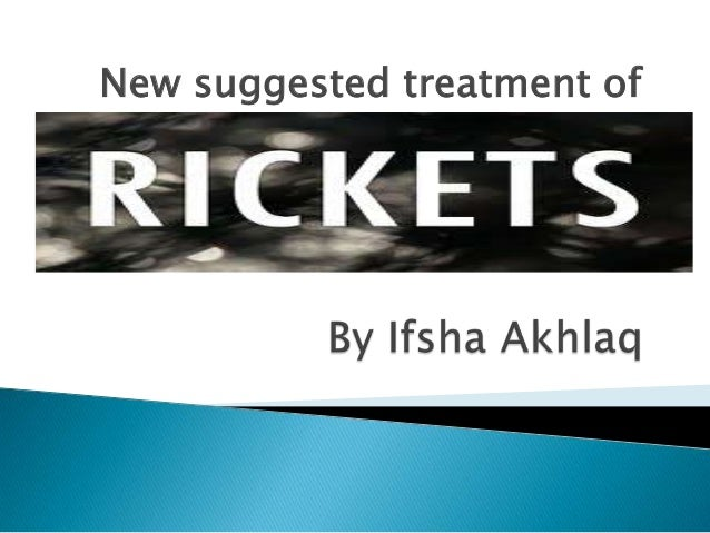 New suggested treatment of