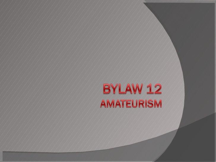 Bylaw12
