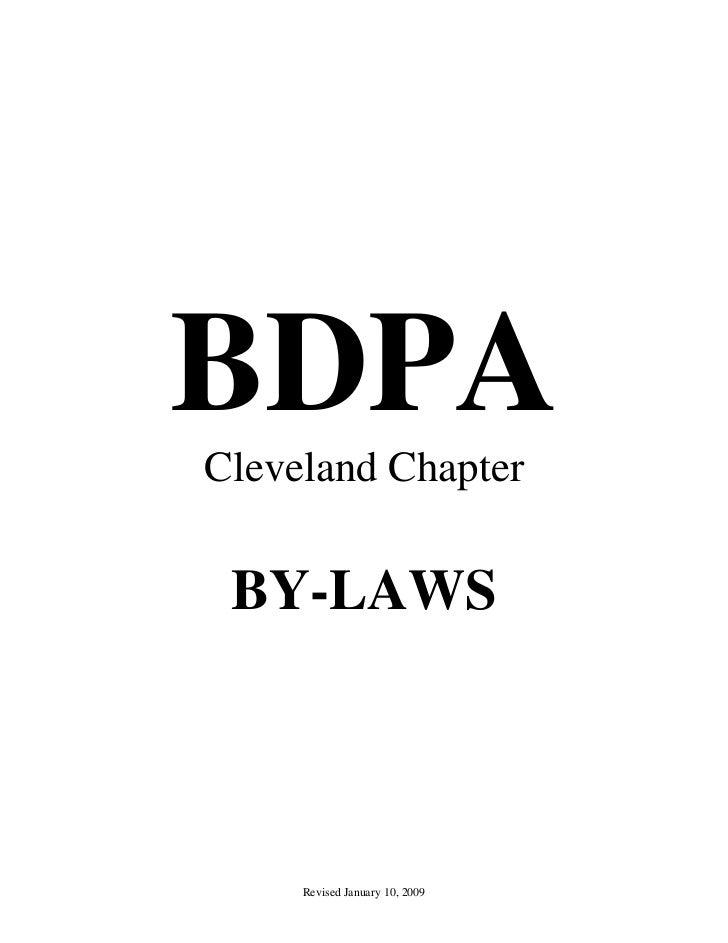 Bylaws: BDPA Cleveland