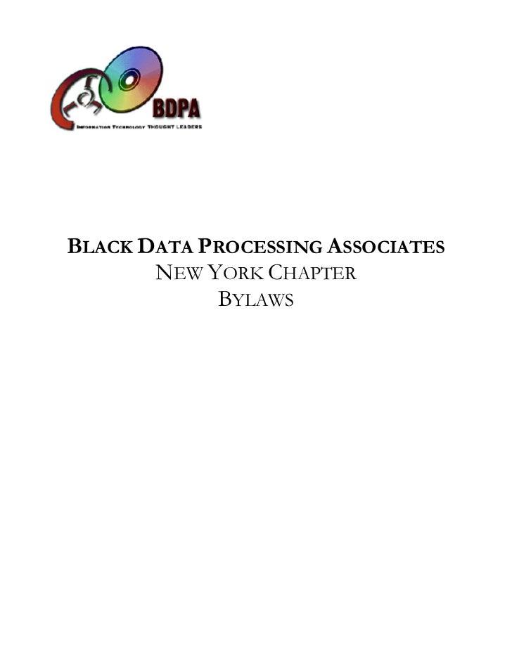 Bylaws: BDPA New York