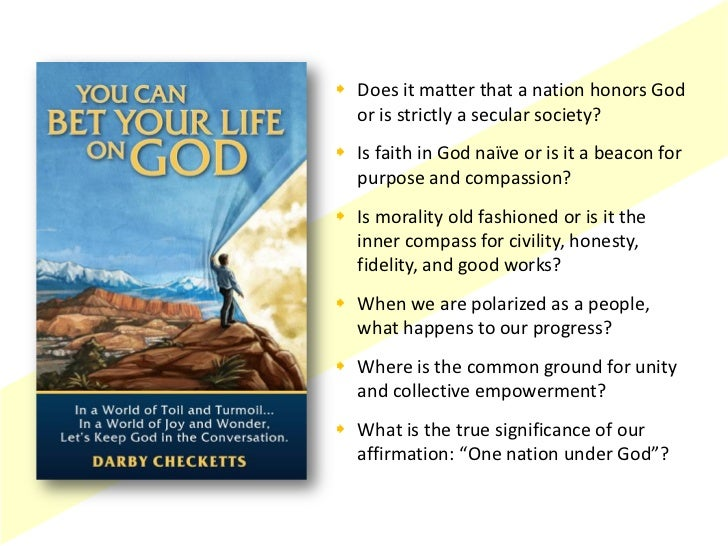  Does it matter that a nation honors God  or is strictly a secular society? Is faith in God naïve or is it a beacon for ...
