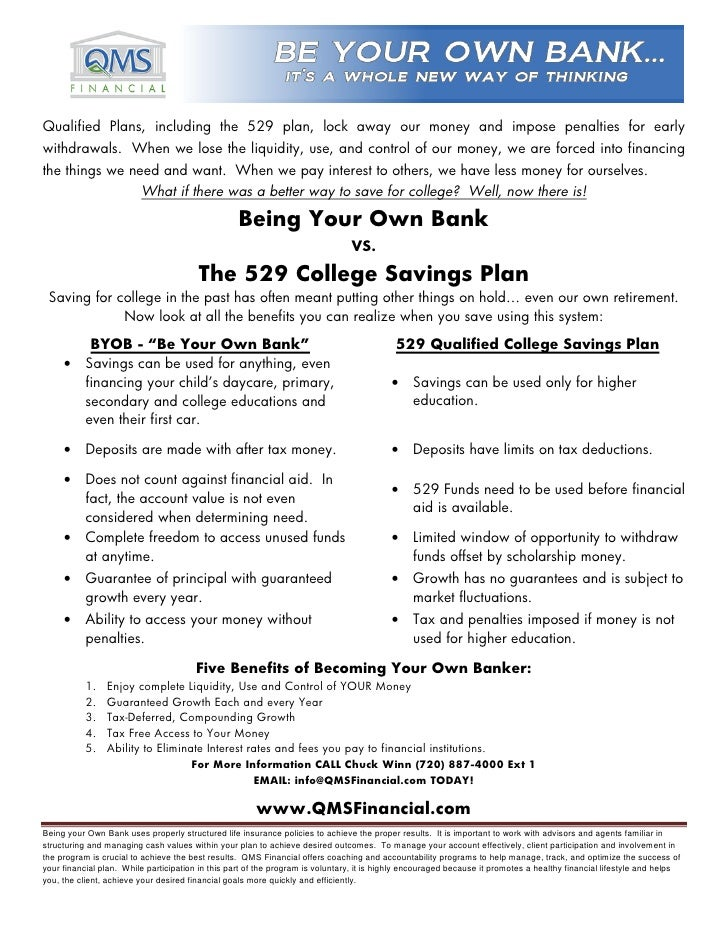 Infinite banking vs 529 college savings plans 1 for 520 plan