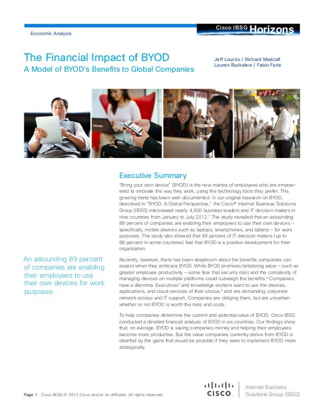 The Financial Impact of BYOD