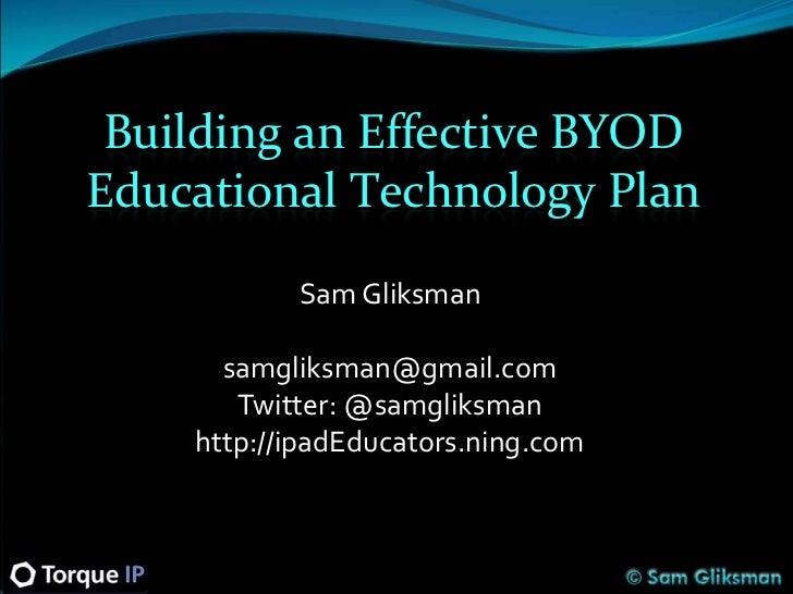 Building an Effective School BYOD Plan