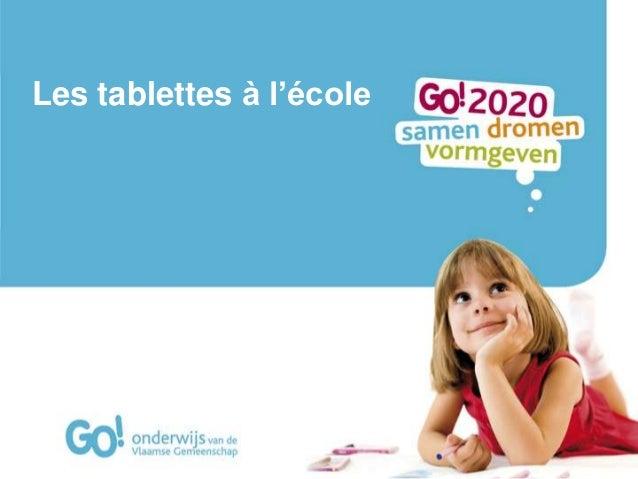 Les tablettes a l'école