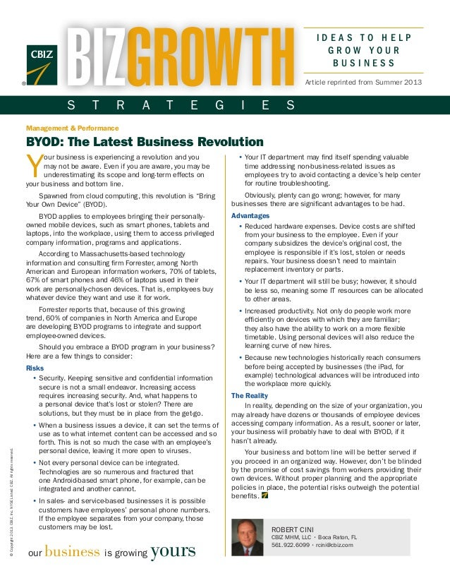 I D E A S T O H E L PG R O W Y O U RB U S I N E S S©Copyright2013.CBIZ,Inc.NYSEListed:CBZ.Allrightsreserved.Your business ...