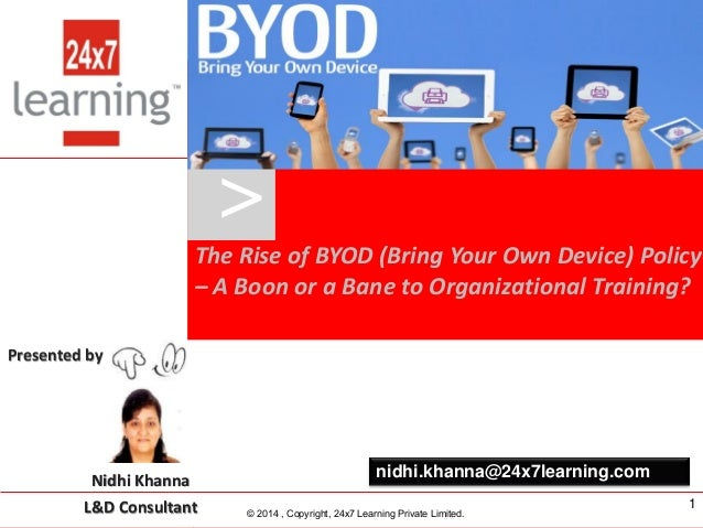 www.24x7learning.com © 2014, Copyright, 24x7 Learning Private Limited. Presented by Nidhi Khanna L&D Consultant – 24x7 Lea...