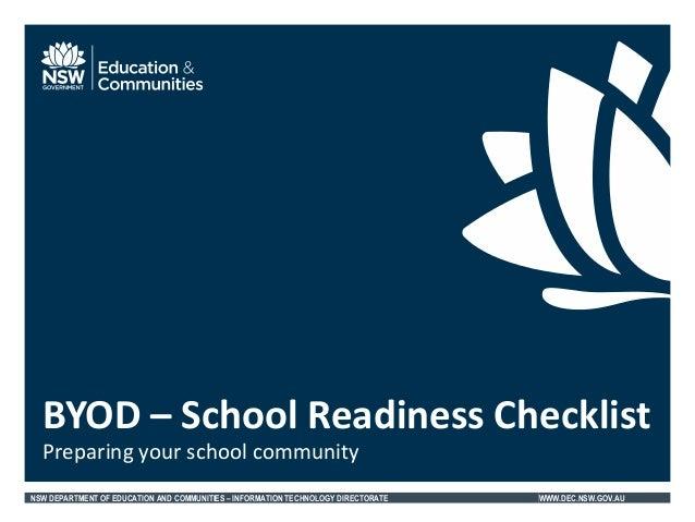 NSWDEC BYOD Checklist