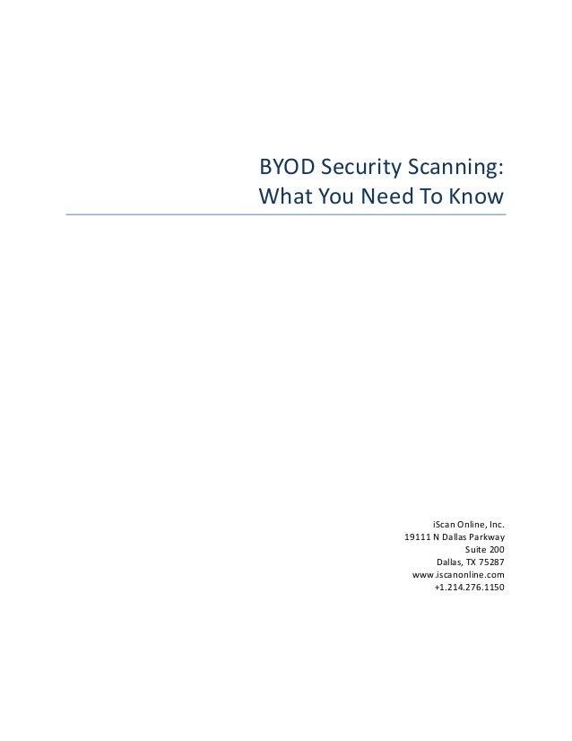 BYOD Security Scanning