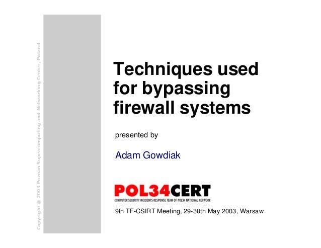 Bypassing firewalls