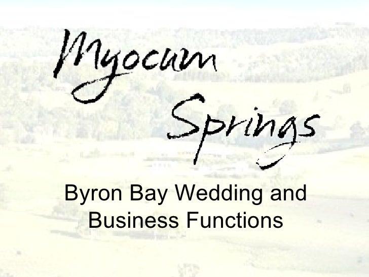 Byron Bay Wedding Reception