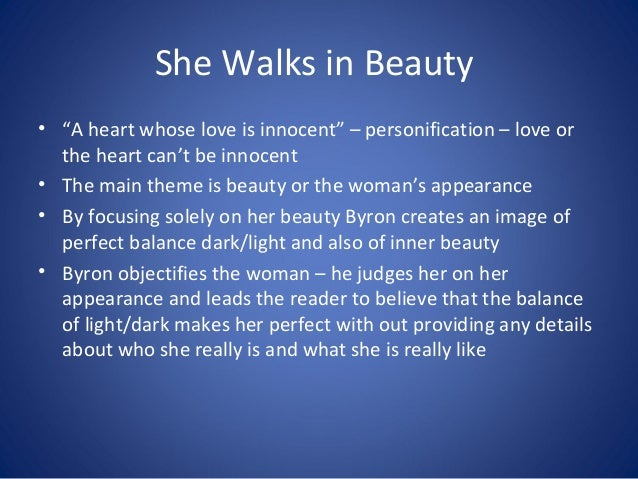 She walks in beauty essay