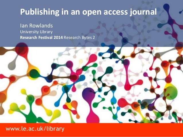 Publishing in an open access journal
