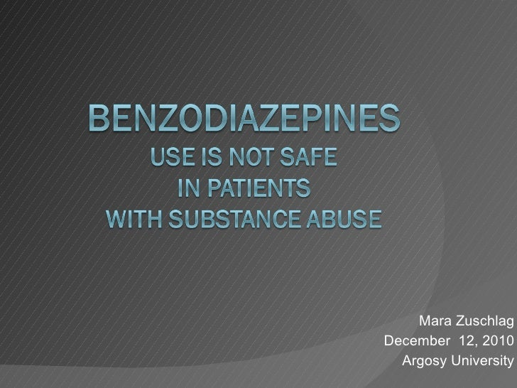 BZDs Patients Substance Abuse97-03Mode