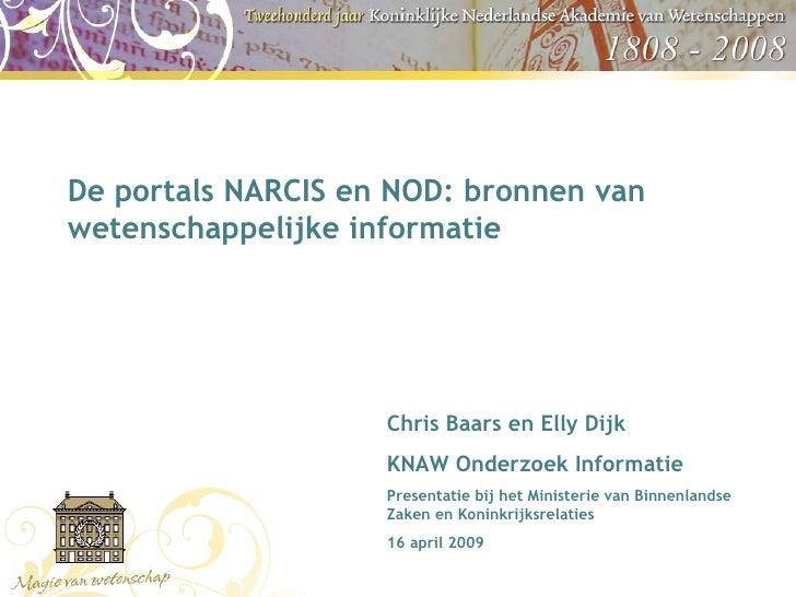 KNAW, NARCIS, NOD