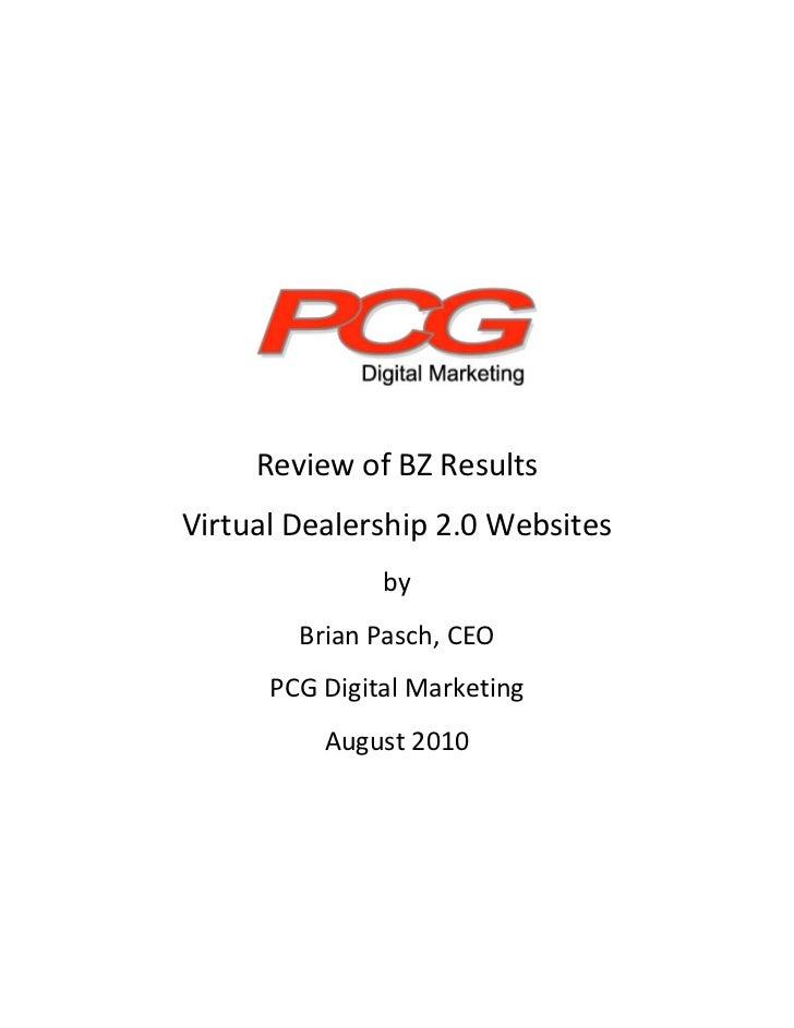 ReviewofBZResults     VirtualDealership2.0Websites...