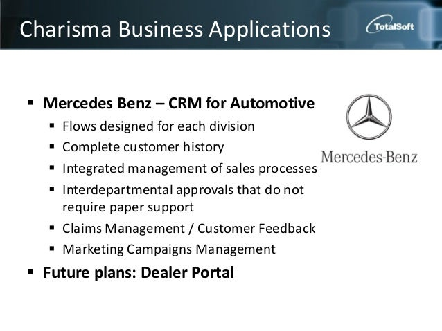 mercedes benz implementing a crm programme Organizing for crm implementation 391 case 72 mercedes-benz: implementing  a crm programme the company mercedes-benz is one of the world s most.