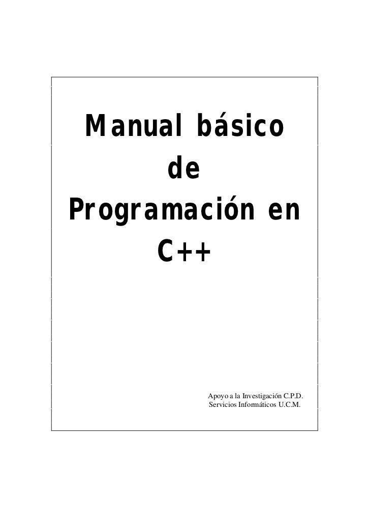 Manual Básico de Programación en C++