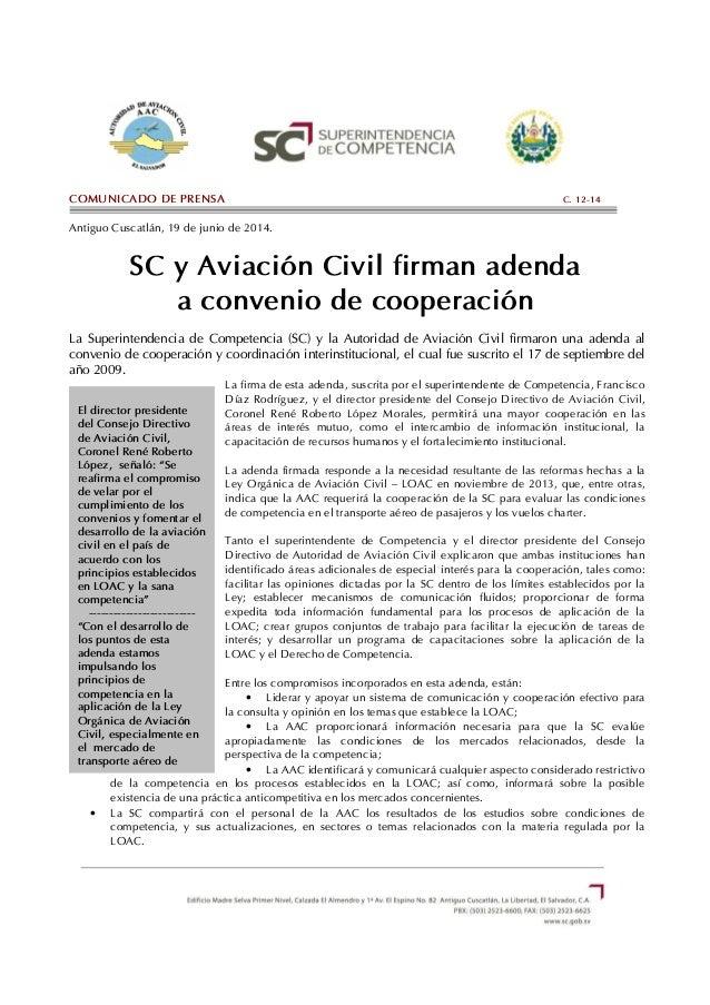 """El director presidente del Consejo Directivo de Aviación Civil, Coronel René Roberto López, señaló: """"Se reafirma el compro..."""