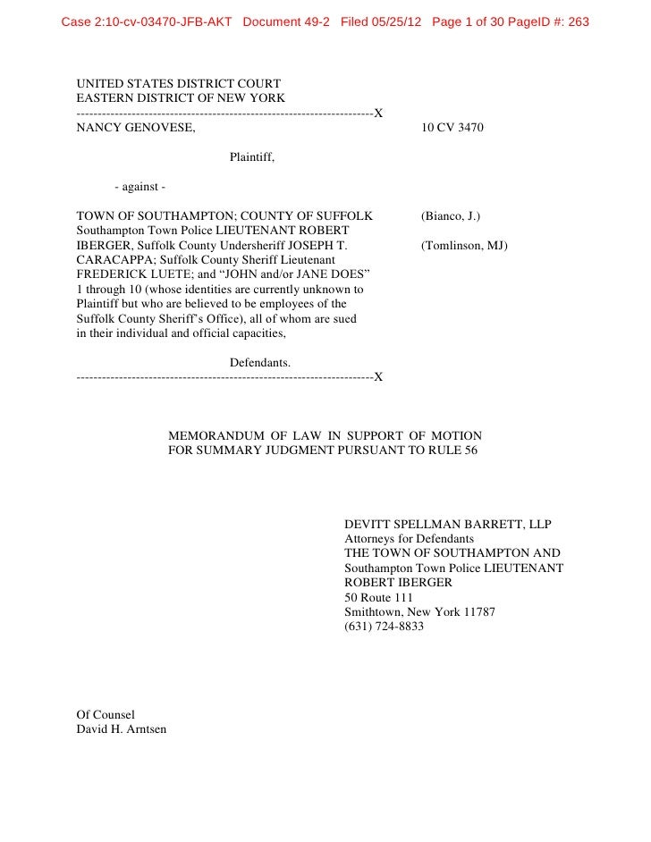 Case 2:10-cv-03470-JFB-AKT Document 49-2 Filed 05/25/12 Page 1 of 30 PageID #: 263  UNITED STATES DISTRICT COURT  EASTERN ...
