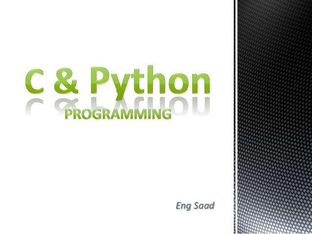 C & Python Introduction