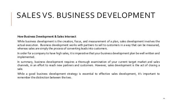 New business development plan