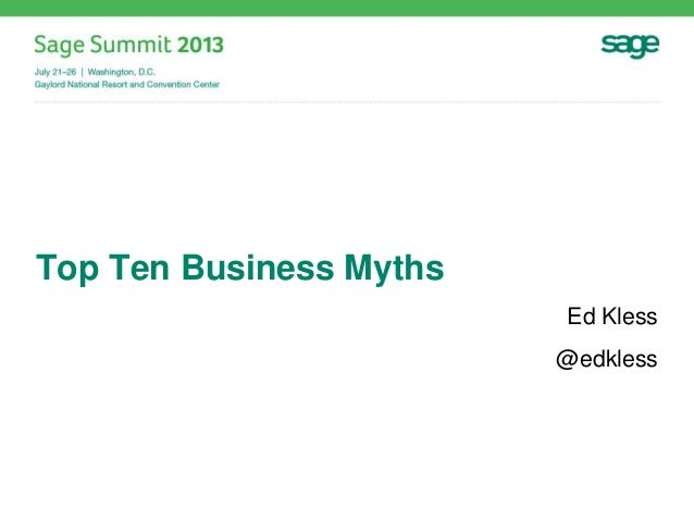 Top Ten Business Myths