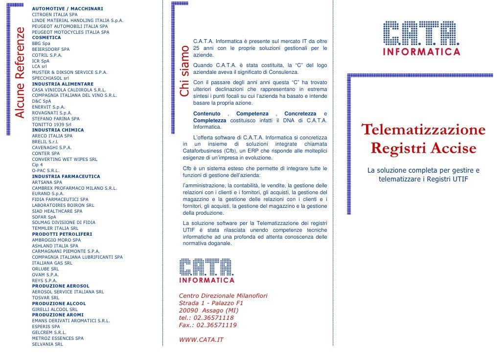 C.A.T.A. Telematizzazione Accise