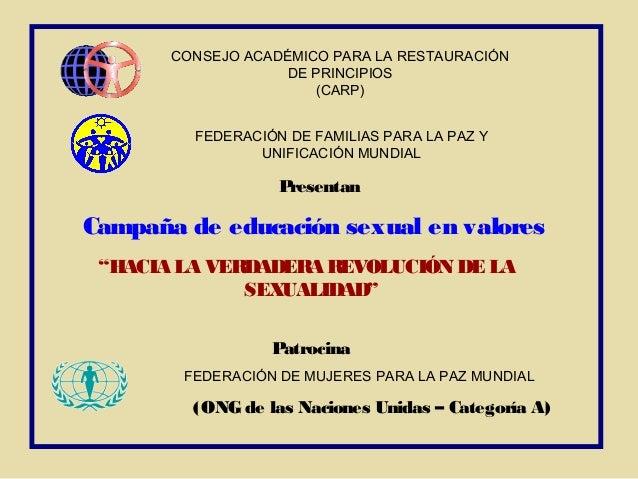 CONSEJO ACADÉMICO PARA LA RESTAURACIÓN                   DE PRINCIPIOS                       (CARP)         FEDERACIÓN DE ...