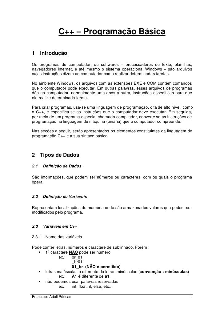 C++   apostila c++ nivel basico