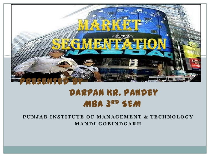 C.b presentation oto market segmentation