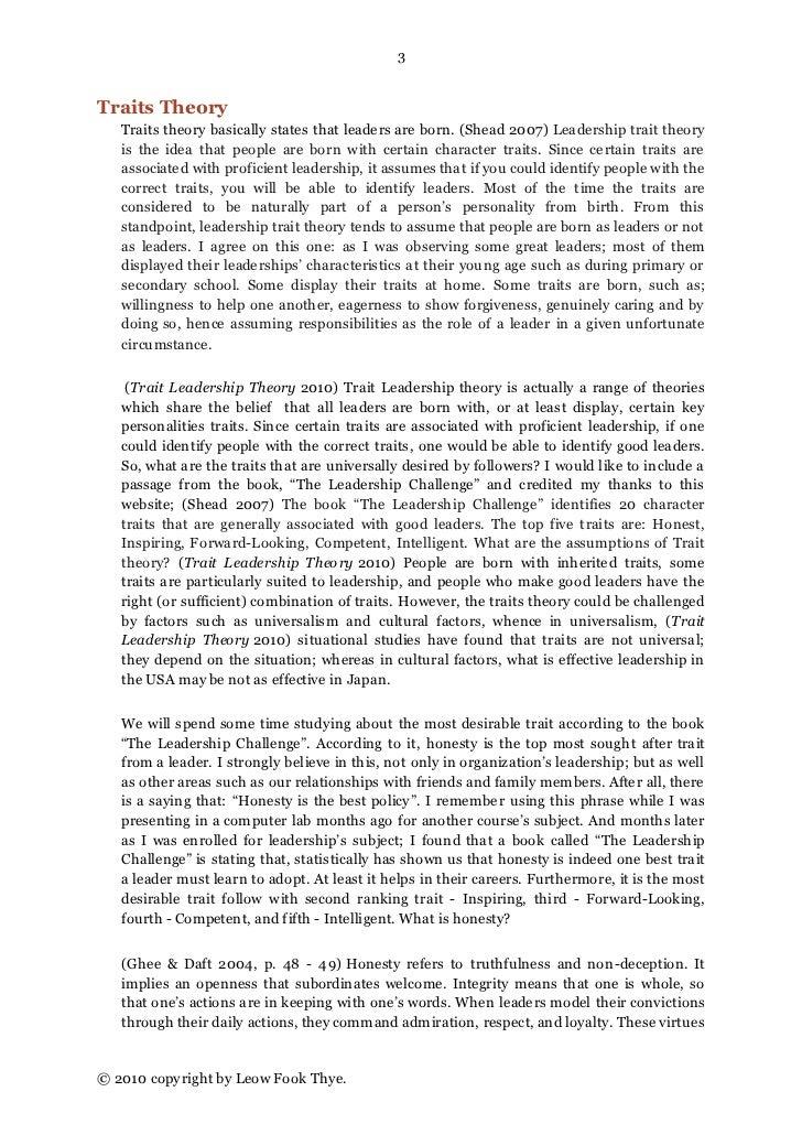 Write my leadership theories essay