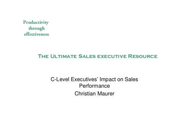 C level involvement