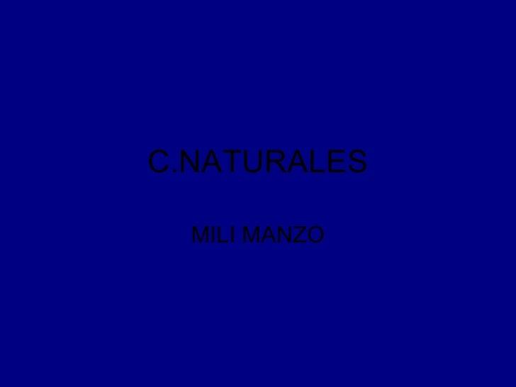 C.NATURALES MILI MANZO