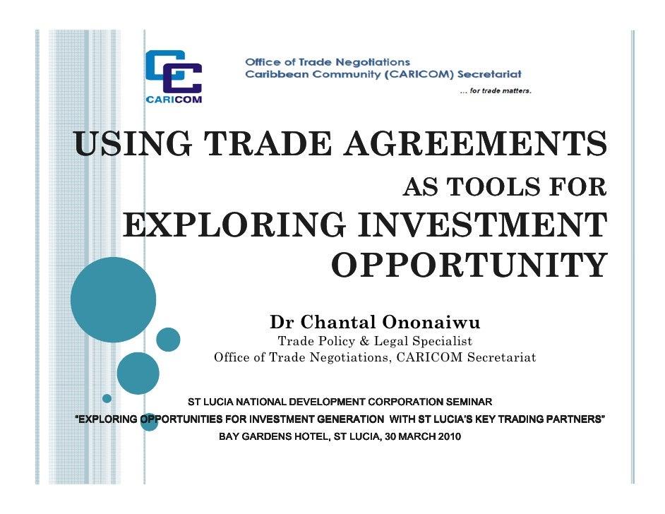 C. Ononaiwu - Using Trade Agreements To Explore Investment Opportunities [Slndc Seminar - March 2010]