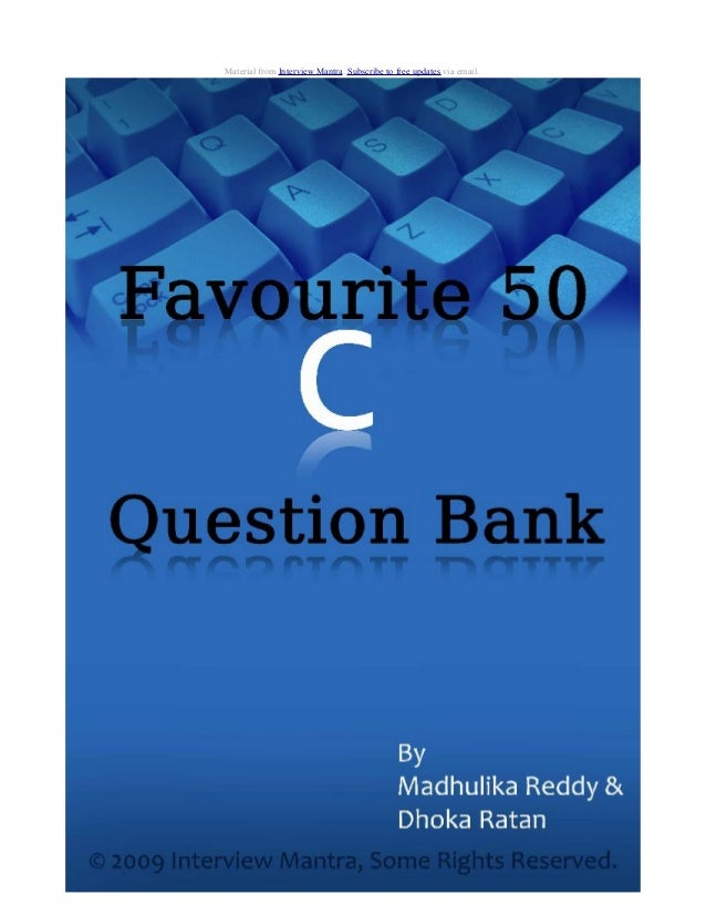 C question-answer-bank