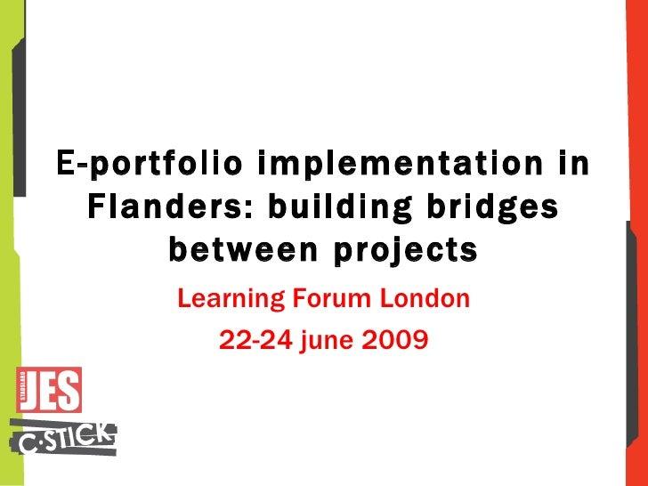 C Stick, E Portfolio Implementation In Flanders