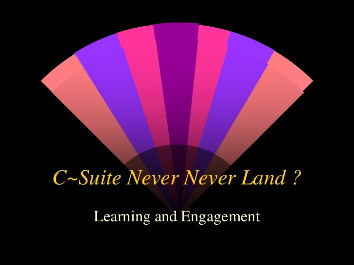 C Suite Never Never Land