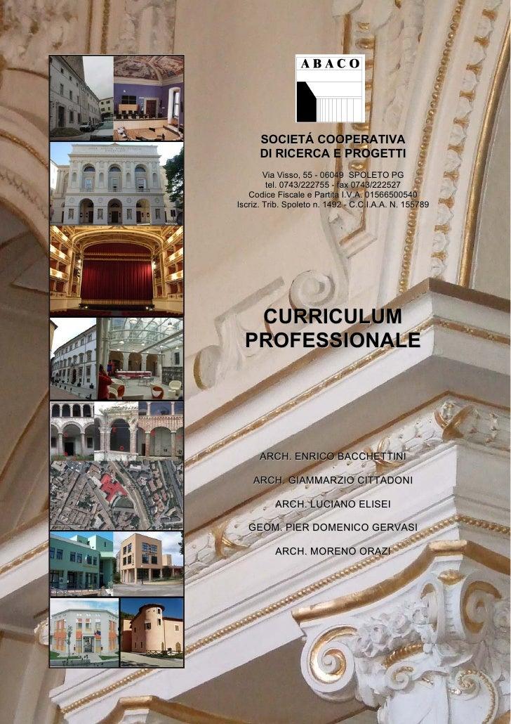 SOCIETÁ COOPERATIVA      DI RICERCA E PROGETTI        Via Visso, 55 - 06049 SPOLETO PG         tel. 0743/222755 - fax 0743...