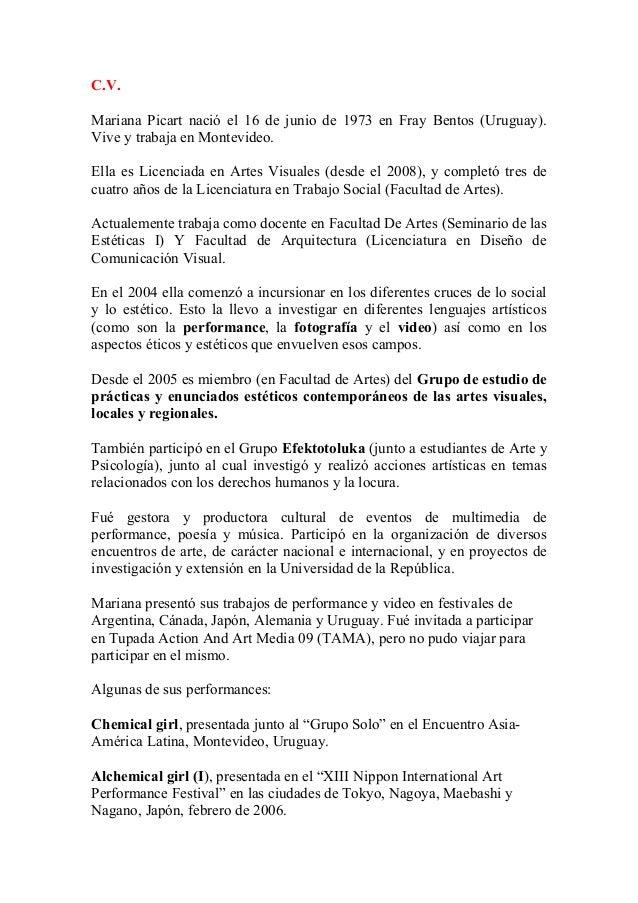 C.v. español english