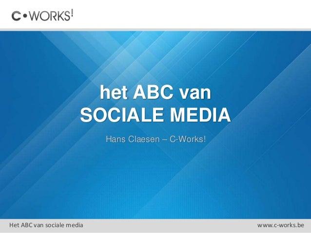 C-Works! Sociale media voor verenigingen