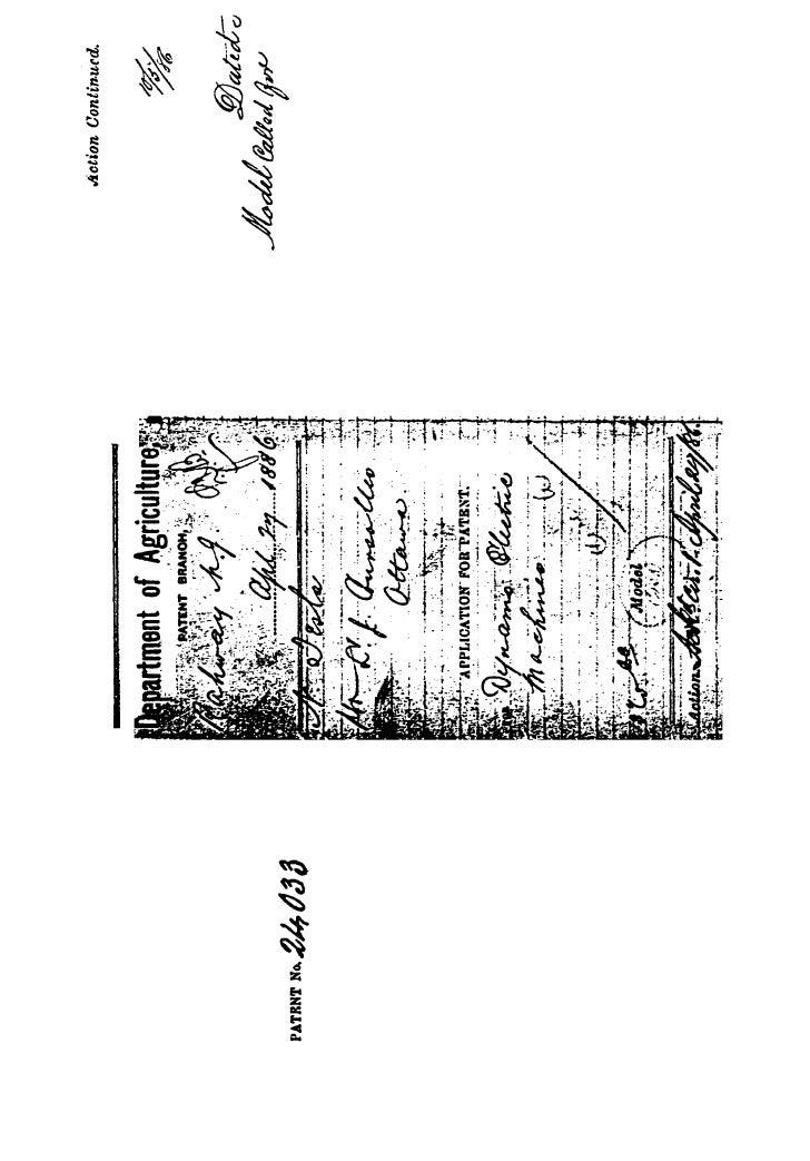 Patente de Nikola Tesla n C0024033