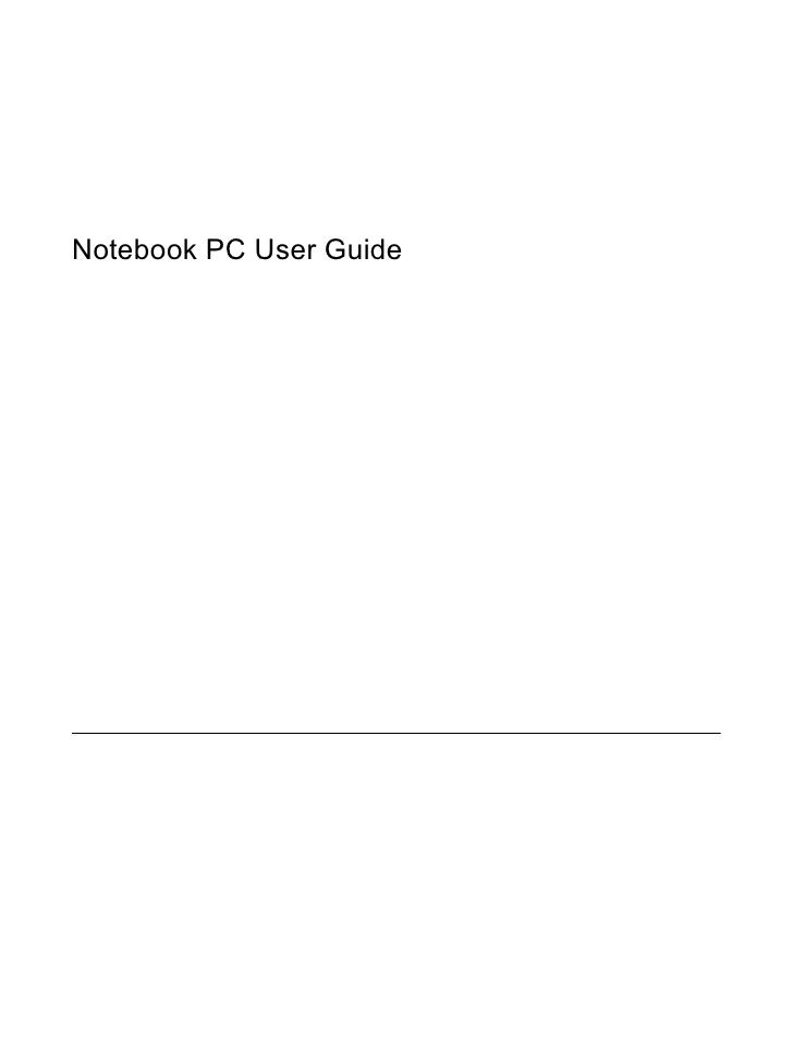 Notebook PC User Guide