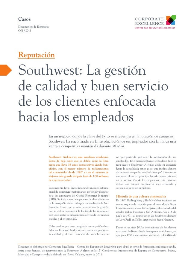 Southwest  la gestión de la calidad enfocada hacia los empleados-