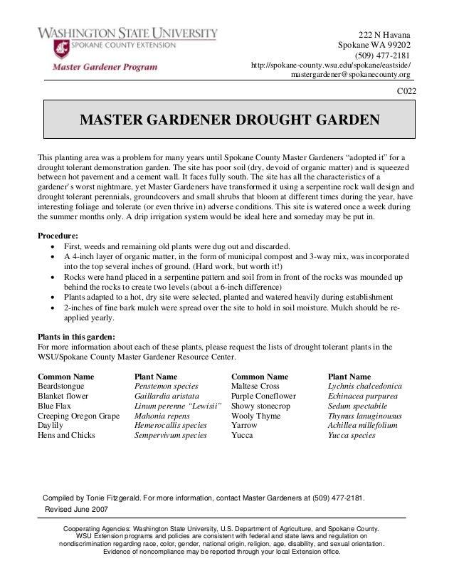 Master Gardener's Drought Garden - Washington State University
