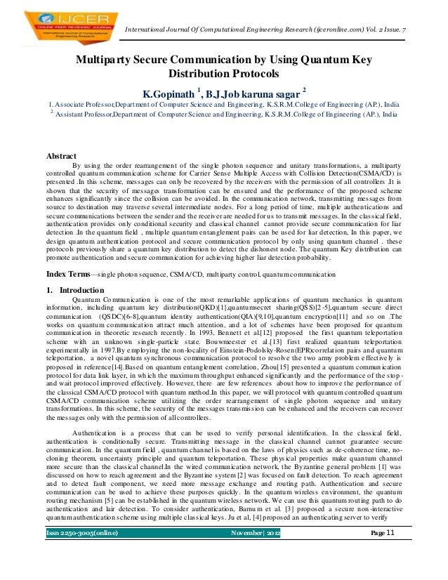 I nternational Journal Of Computational Engineering Research (ijceronline.com) Vol. 2 Issue. 7          Multiparty Secure ...