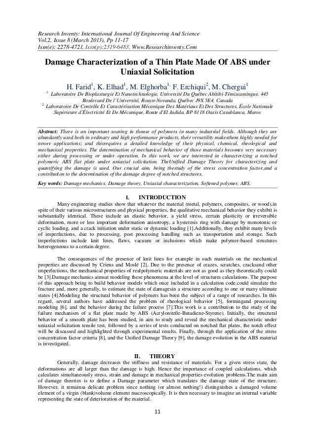 Research Inventy: International Journal Of Engineering And ScienceVol.2, Issue 8 (March 2013), Pp 11-17Issn(e): 2278-4721,...